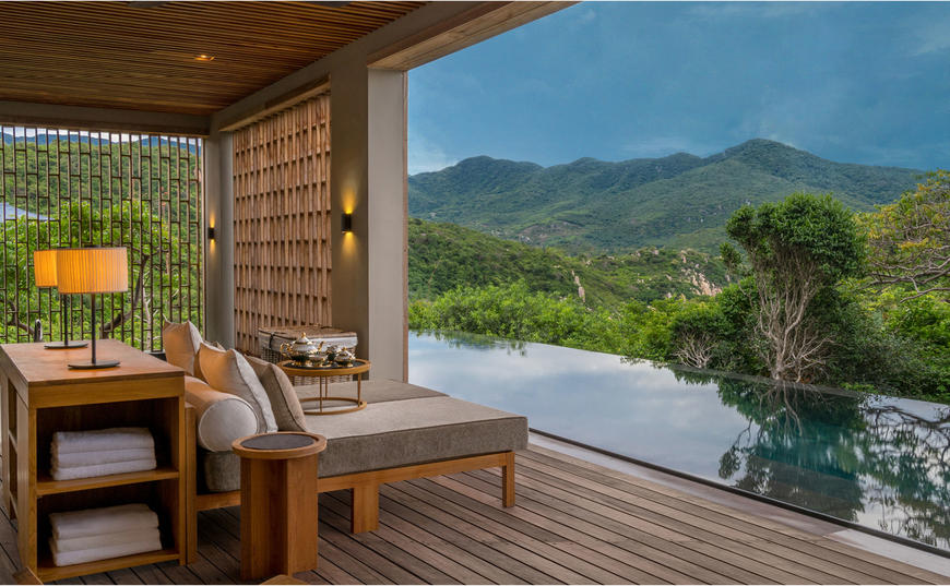 Swimming Pool, Forest Wellness Pool Villa, Amanoi, Vietnam