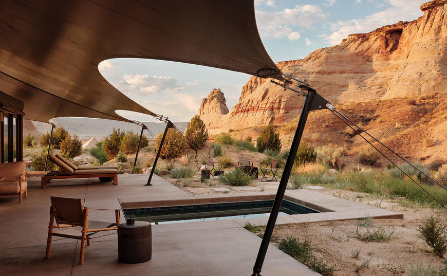 Private Terrace, One-Bedroom Mesa Pavilion, Amangiri, USA