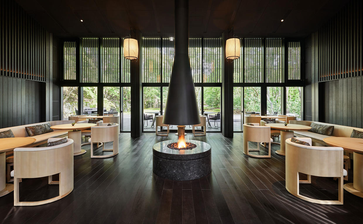 Aman Kyoto Dining Living Pavilion