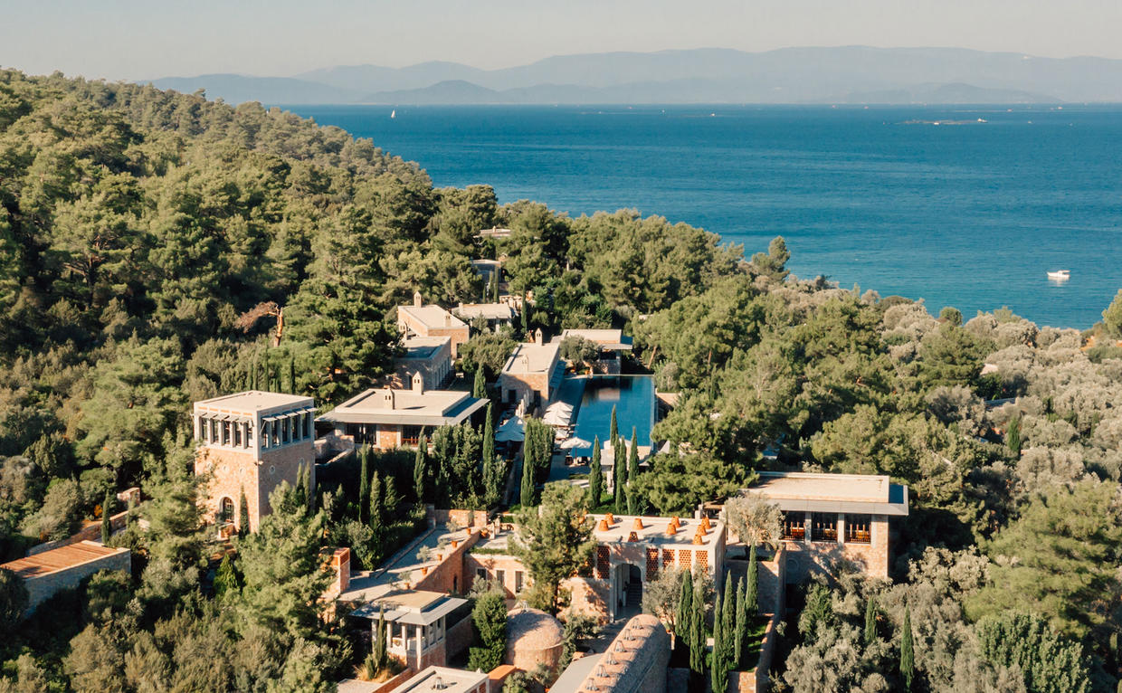 Amanruya, Turkey - Aerial, Resort Exterior