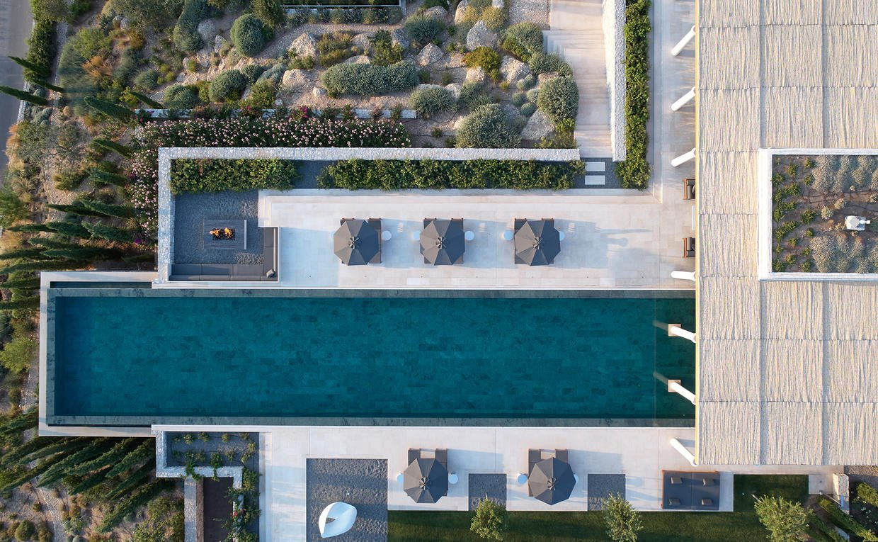 Aerial View, Villa 20, Amanzoe, Greece