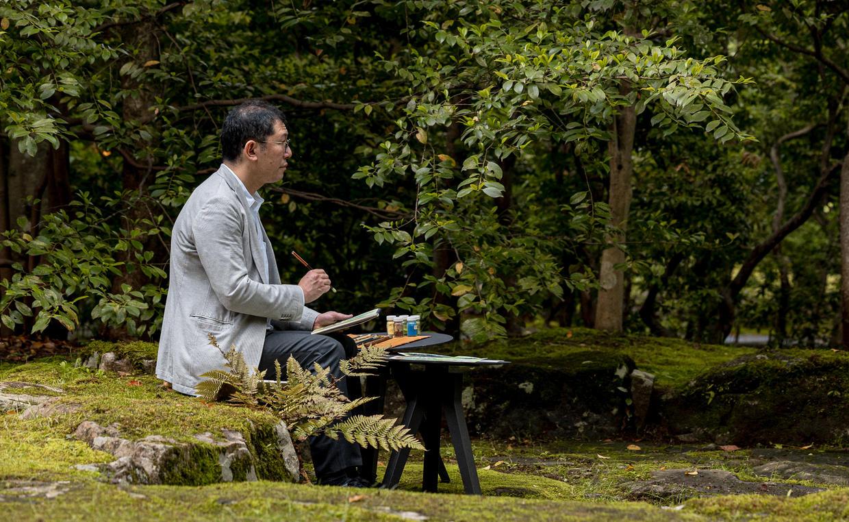 Aman Kyoto, Japan - Activity, Garden painting