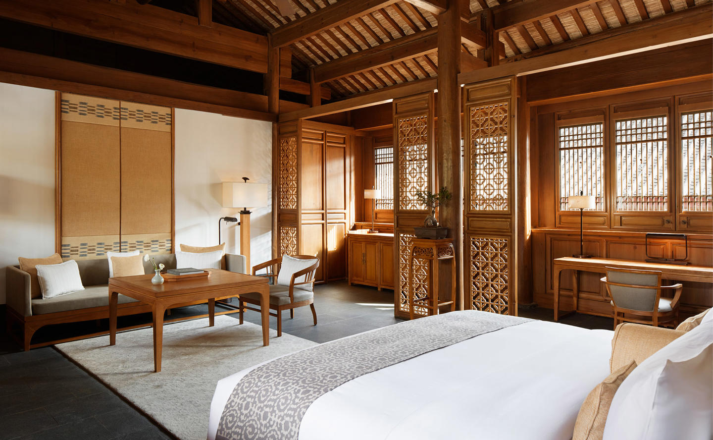 Bedroom, Courtyard Suite - Amandayan, China