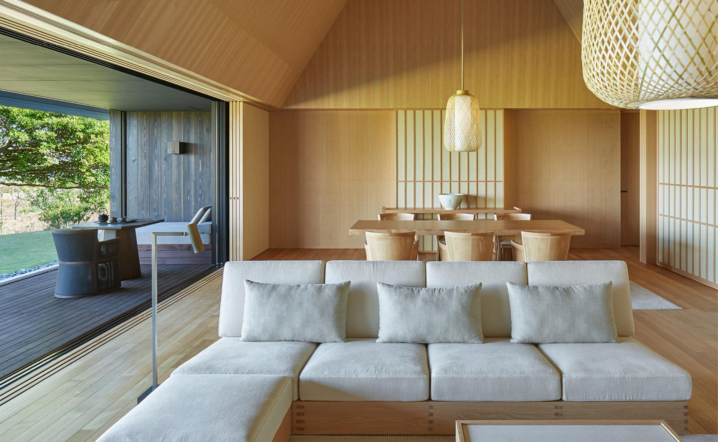 Living Area, Mori Villa - Amanemu, Japan