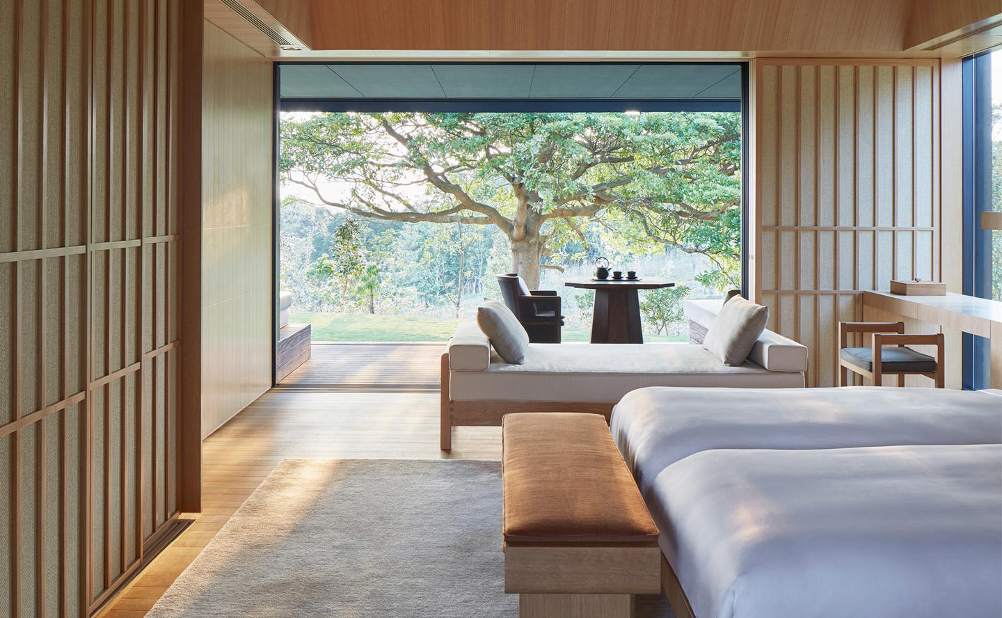 Bedroom, Mori Suite - Amanemu, Japan