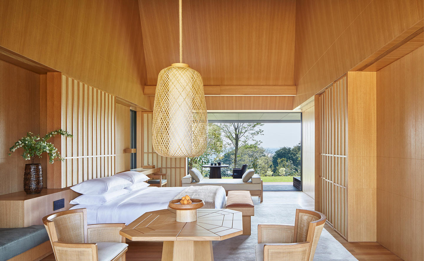 Bedroom, Sora Suite - Amanemu, Japan