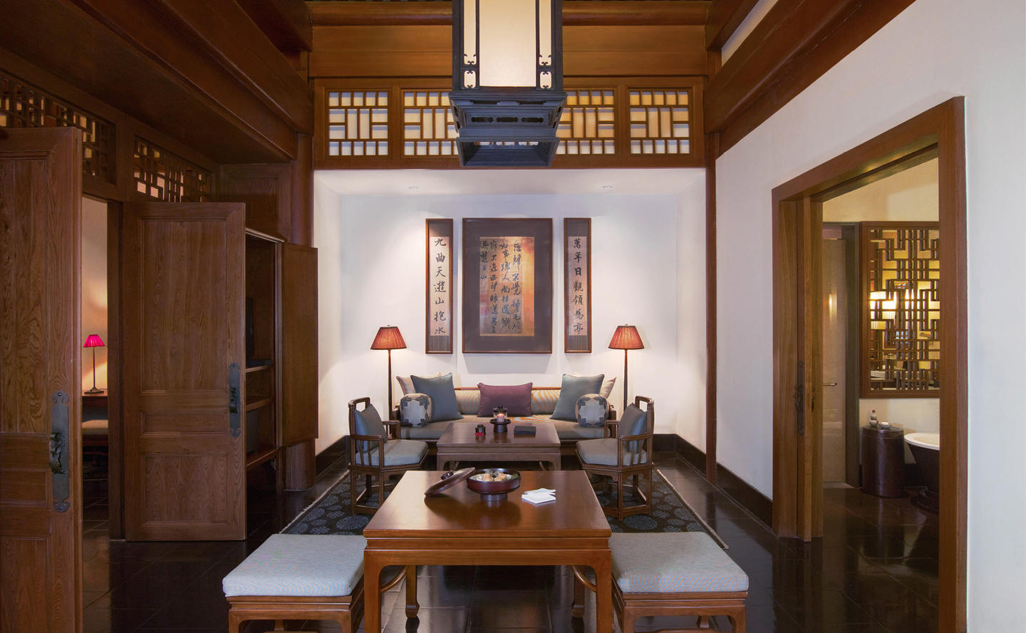 Living Area, Traditional Courtyard Room - Aman Summer Palace, China