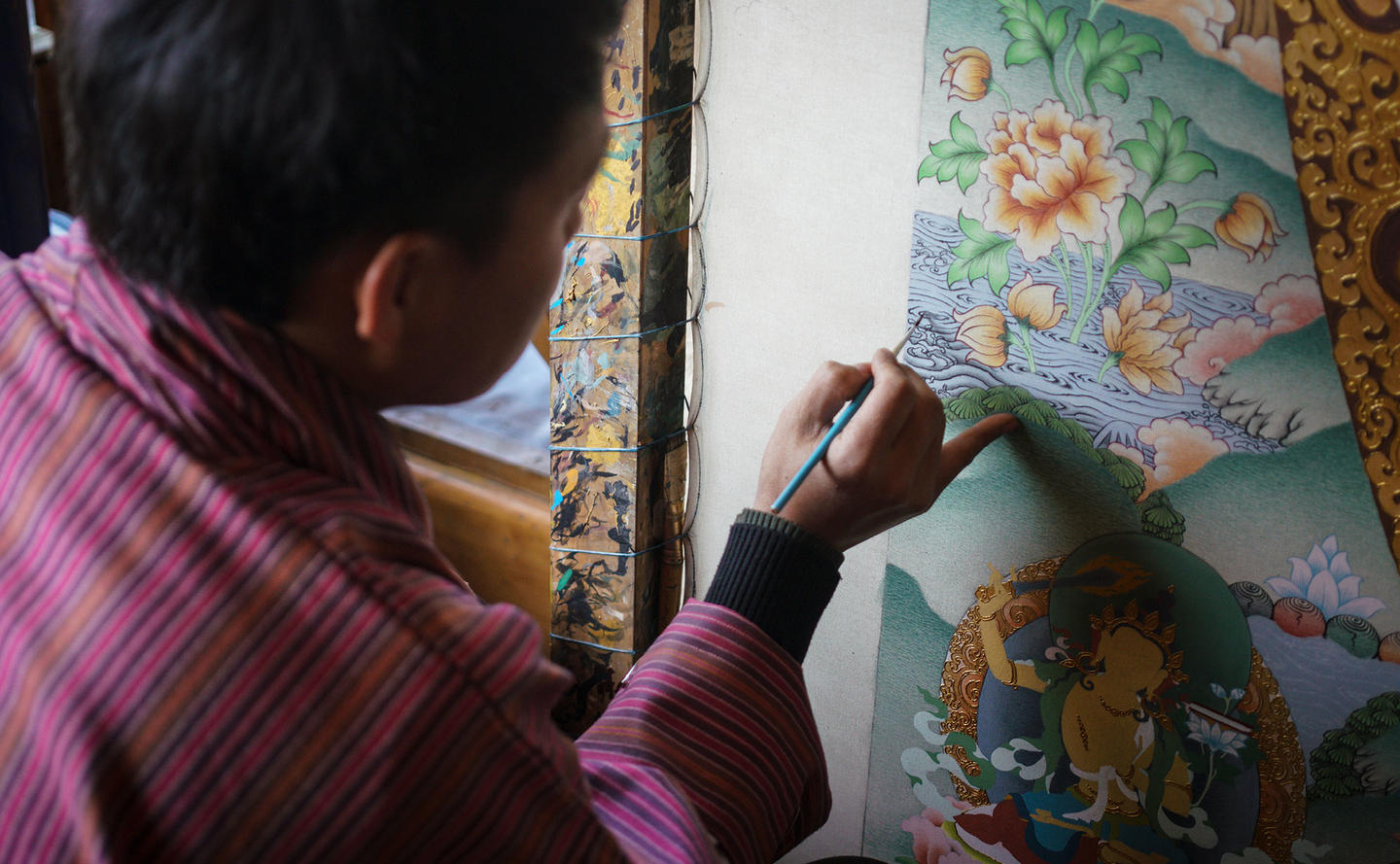 Traditional Painting Crafts - Amankora, Bhutan