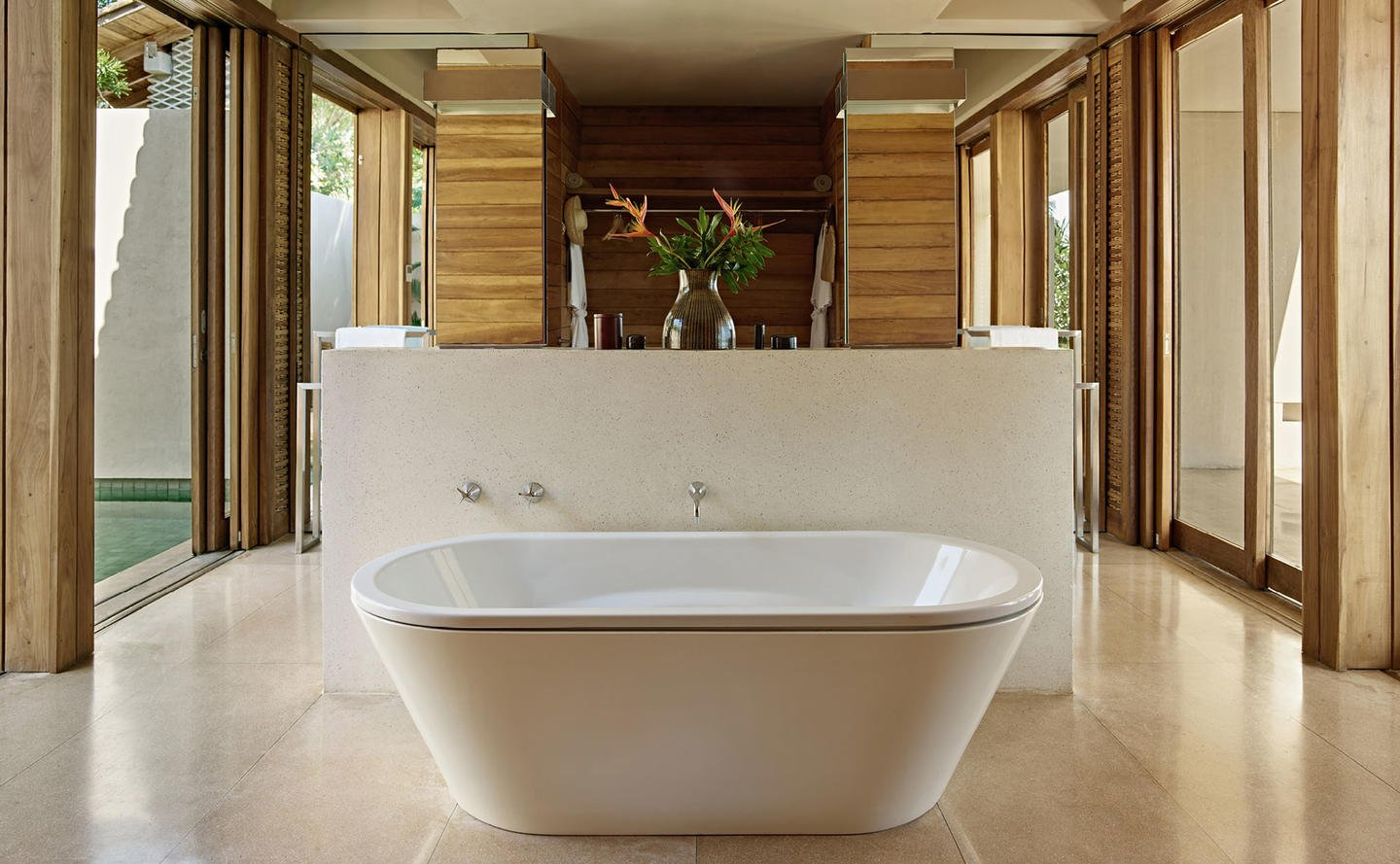Bathroom, Garden Pool Suite - Amanwella, Sri Lanka