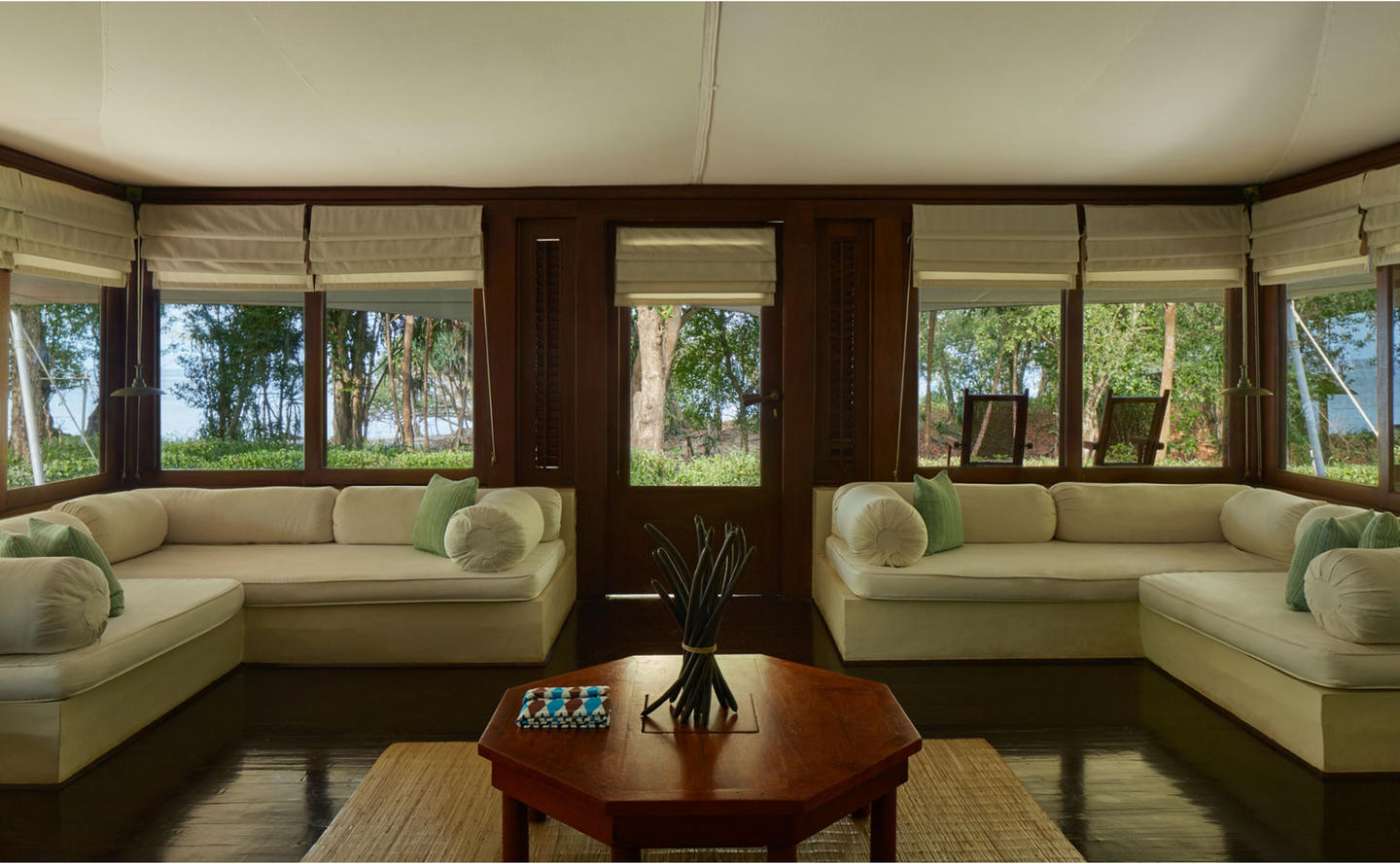 Living Area, Jungle Tent - Amanwana, Moyo Island, Indonesia