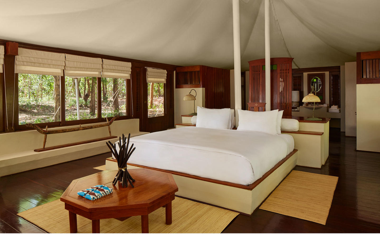 Bedroom, Jungle Tent - Amanwana, Moyo Island, Indonesia