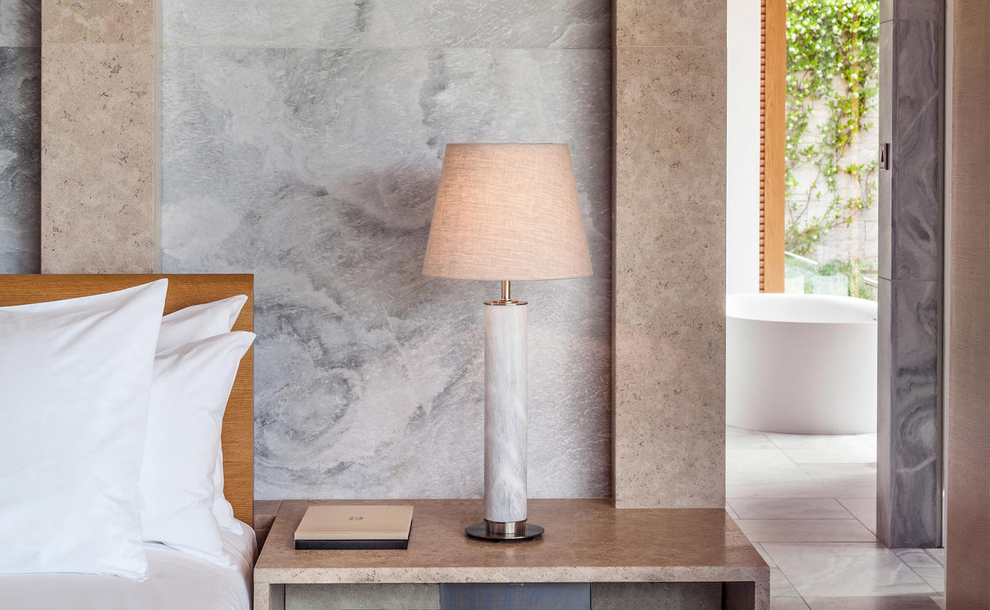 Bedside Table with Lamp, Suite, Two-Bedroom Villa - Amanzoe, Greece