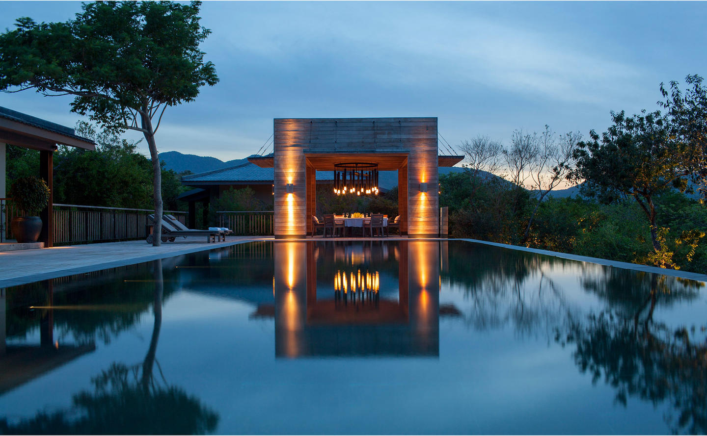 Swimming Pool at Night, Four-Bedroom Residence - Amanoi, Vietnam