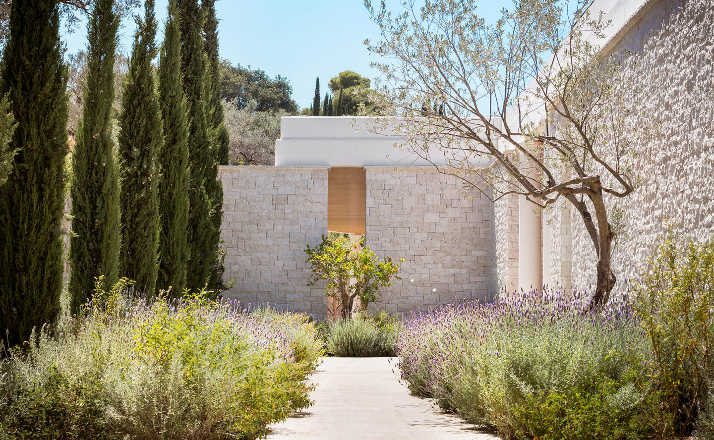 Entrance & Walkway, Six-Bedroom Villa - Amanzoe, Greece