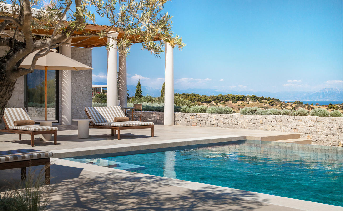 Swimming Pool Terrace, Six-Bedroom Villa - Amanzoe, Greece