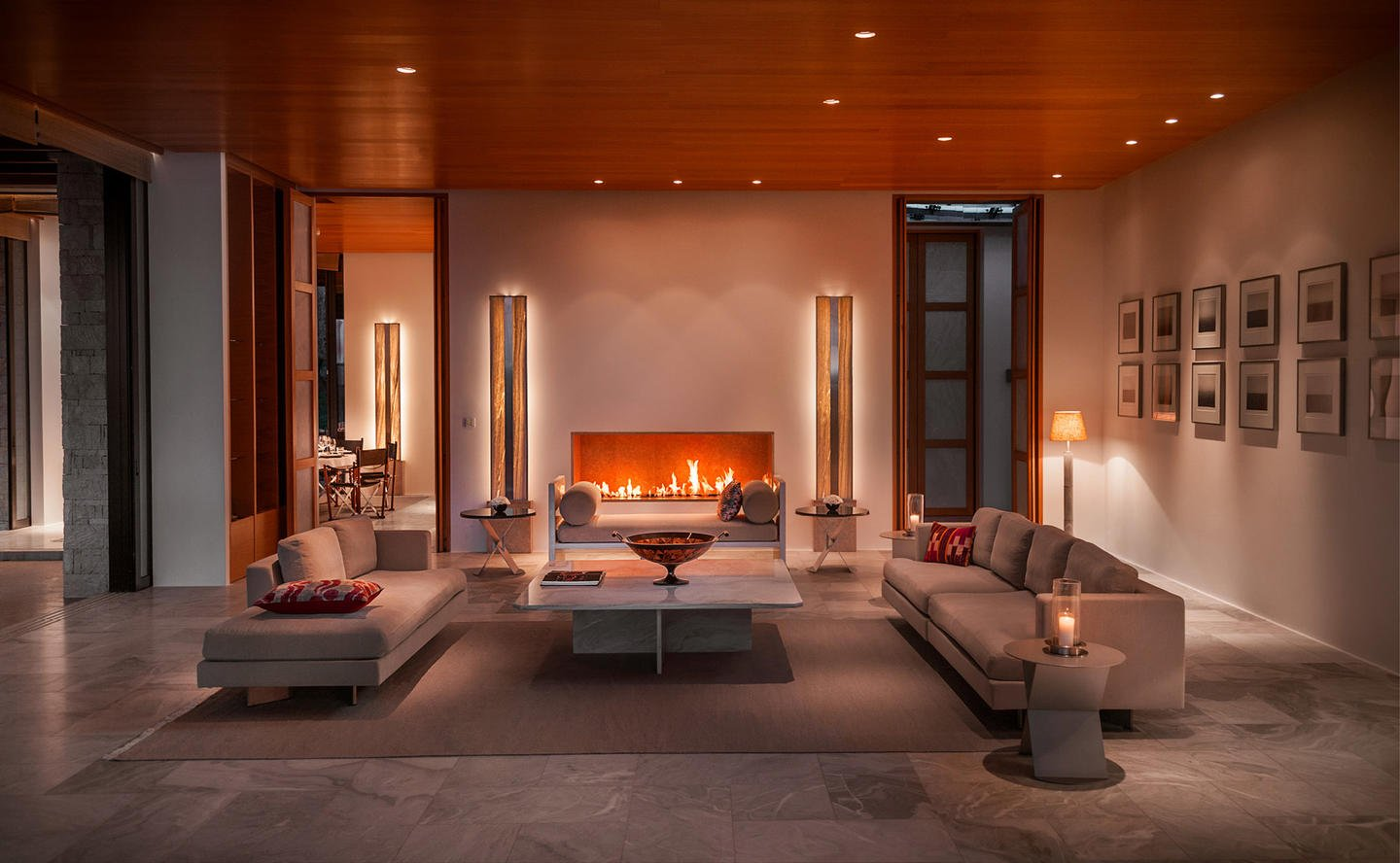 Living Area, Six-Bedroom Villa - Amanzoe, Greece