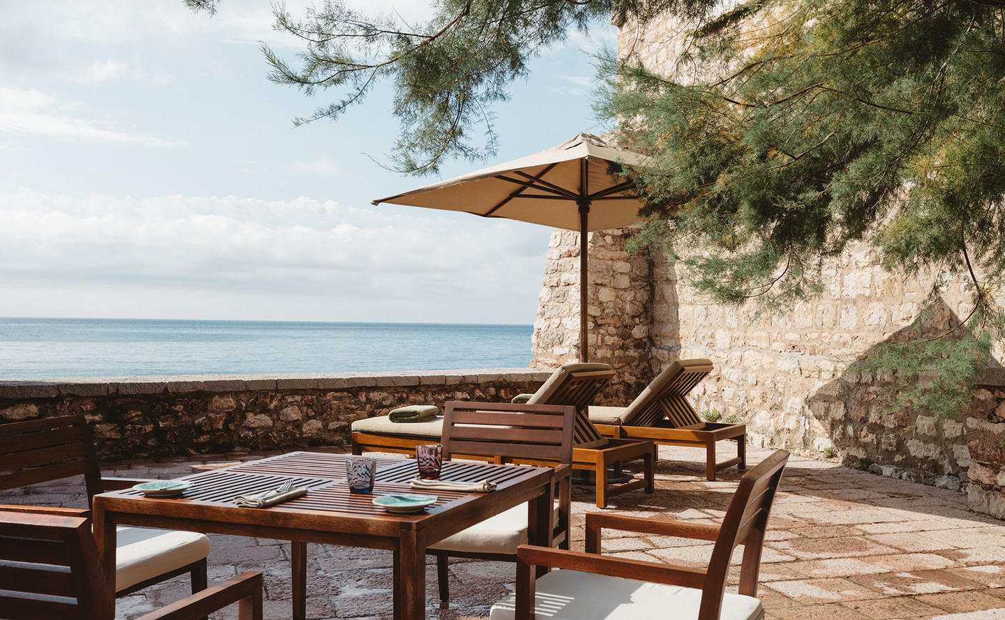 Private Terrace, Deluxe Cottage - Aman Sveti Stefan, Montenegro