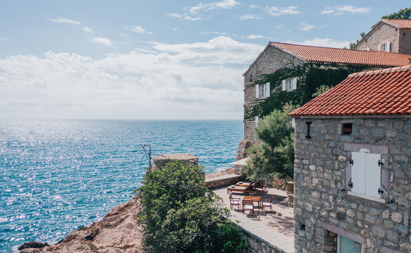 Private Terrace & Views of the Adriatic, Deluxe Cottage - Aman Sveti Stefan, Montenegro