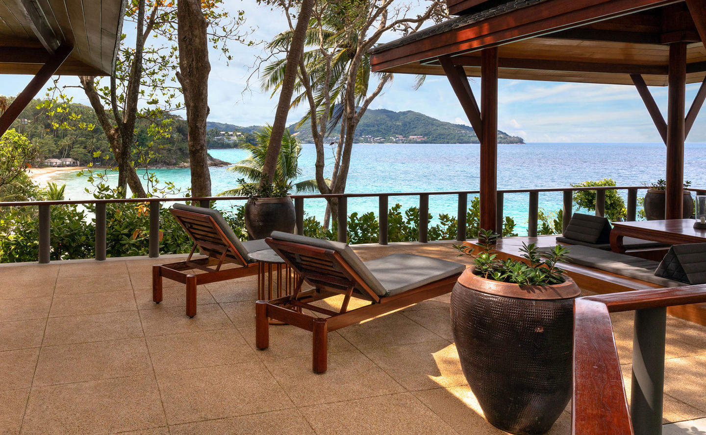 Terrace with Ocean Views, Deluxe Ocean Pavilion, Amanpuri, Thailand