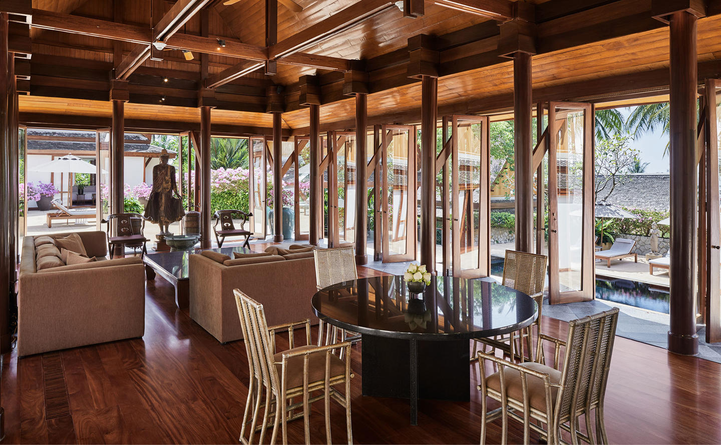 Living & Dining Area, Four-Bedroom Garden Villa, Amanpuri, Thailand