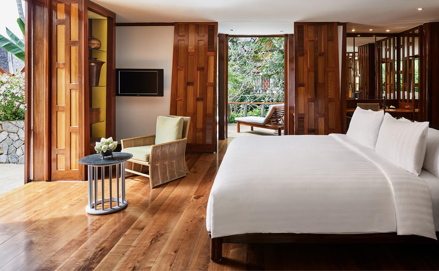 Bedroom, Four-Bedroom Garden Villa, Amanpuri, Thailand