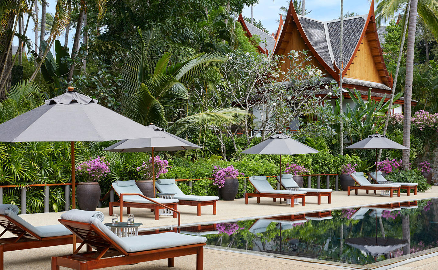 Swimming Pool & Terrace, Four-Bedroom Garden Villa, Amanpuri, Thailand