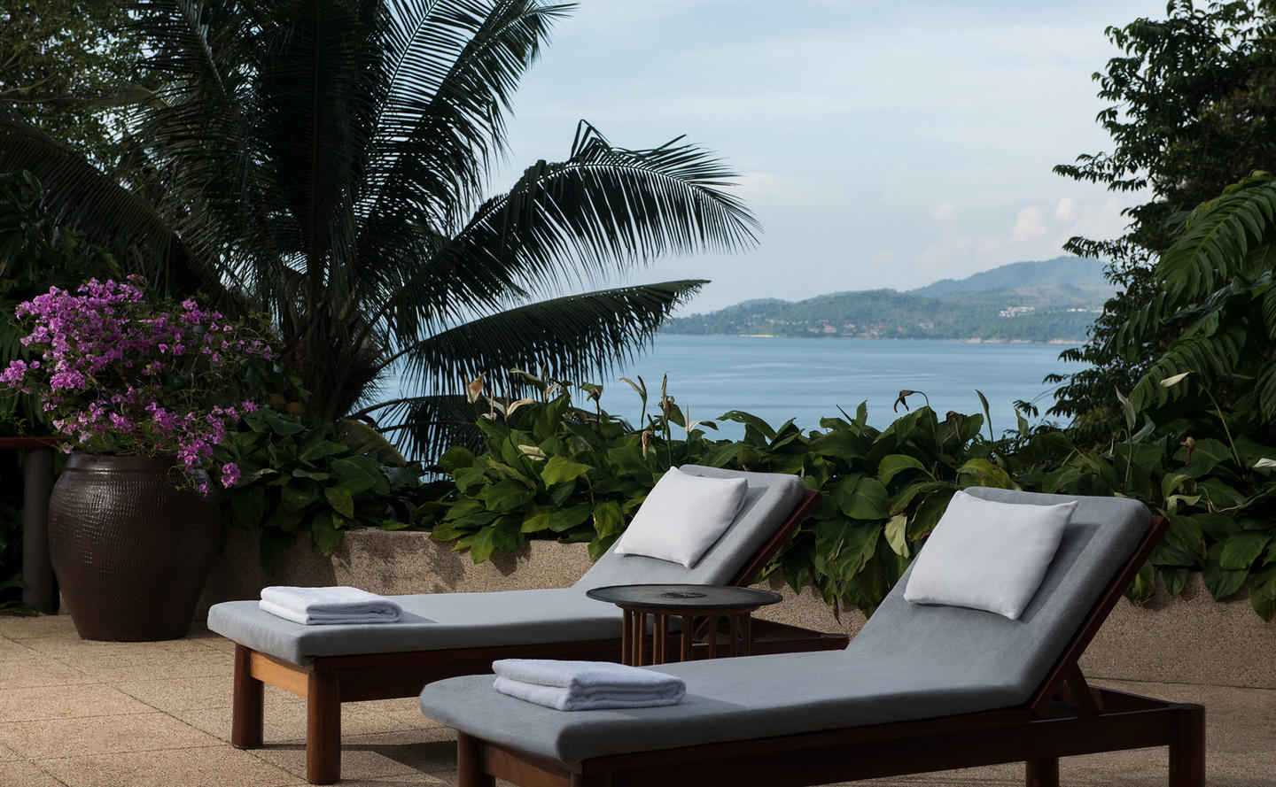 Terrace with Sun Loungers, Ocean Pool Pavilion, Amanpuri, Thailand