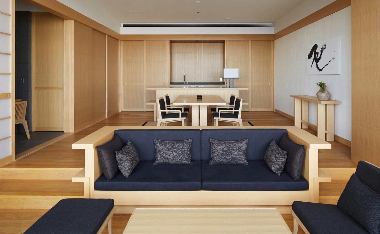 Living & Dining Area, Suite - Aman Tokyo, Japan
