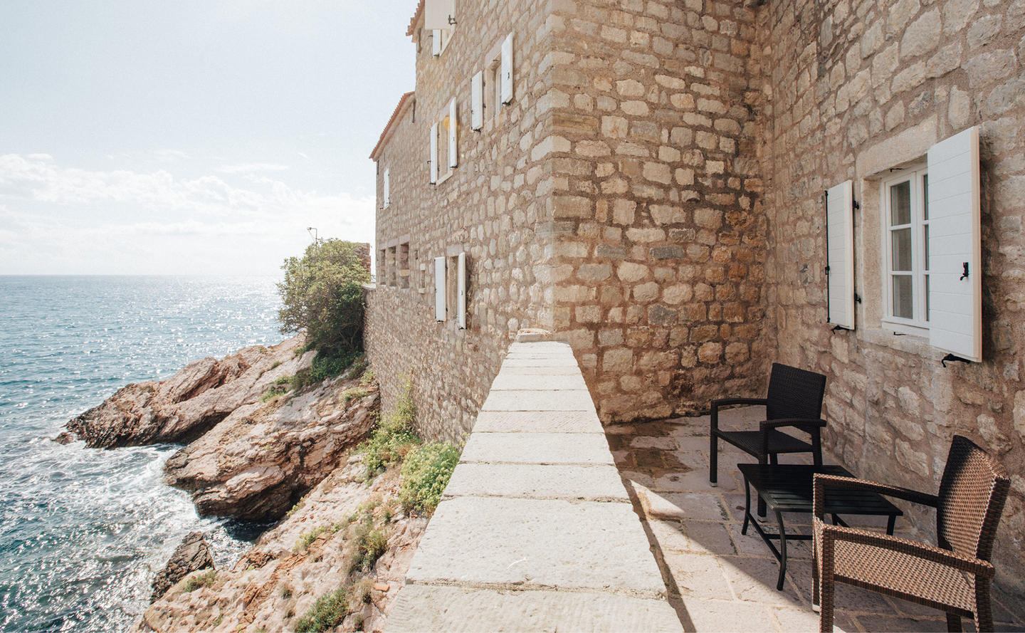 Terrace, Three-Bedroom Village Cottage, Aman Sveti Stefan, Montenegro