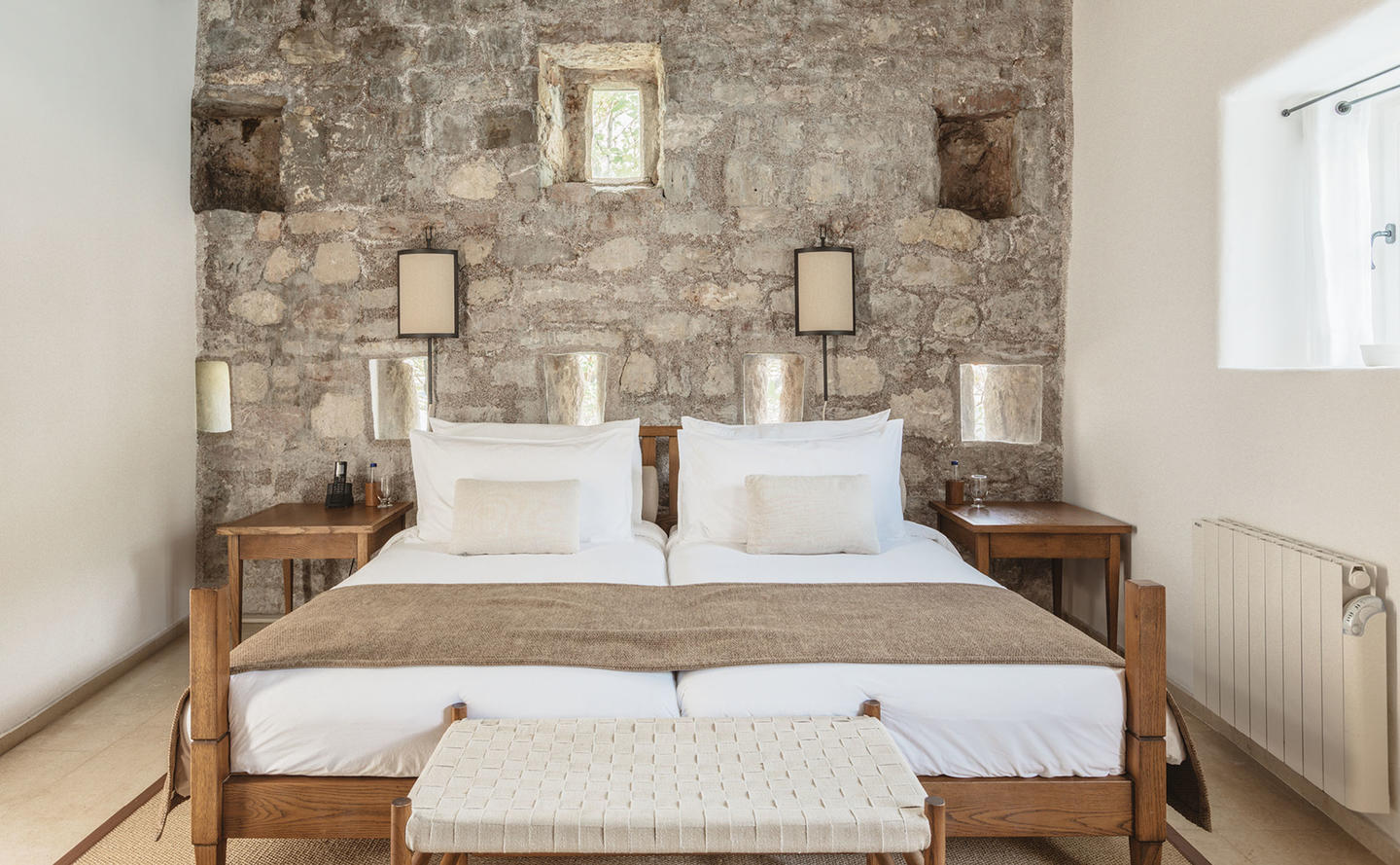 Bedroom, Three-Bedroom Village Cottage, Aman Sveti Stefan, Montenegro