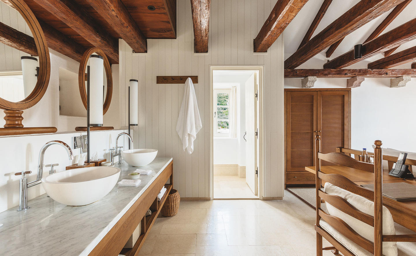 Bathroom Area, Three Bedroom Village Cottage, Aman Sveti Stefan, Montenegro