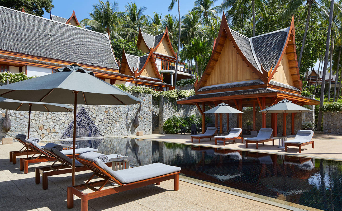 Swimming Pool & Sun Loungers, Two-Bedroom Garden Villa, Amanpuri, Thailand
