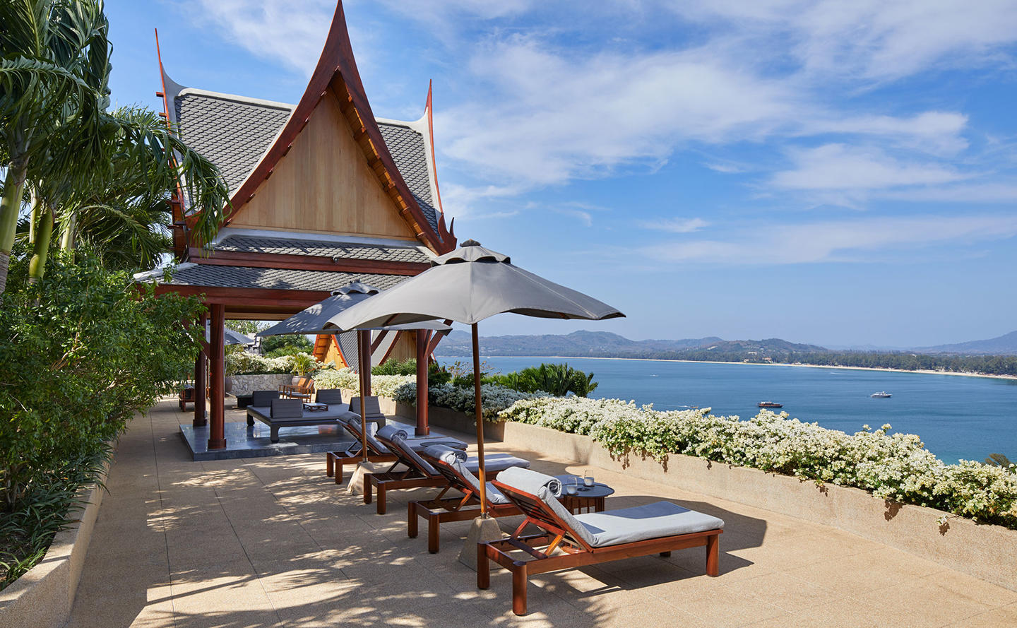 Terrace with Ocean Views, Two-Bedroom Ocean Villa, Amanpuri, Thailand