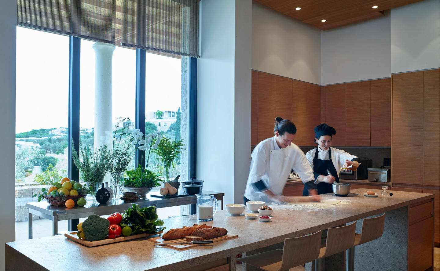 Private Chef's in Kitchen, Villa 20 - Amanzoe, Greece