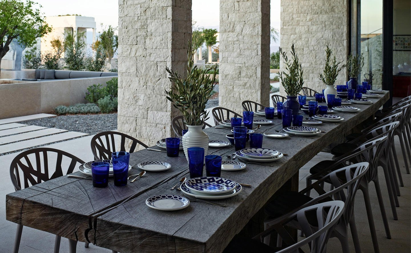 Outdoor Dining, Villa 20 - Amanzoe, Greece