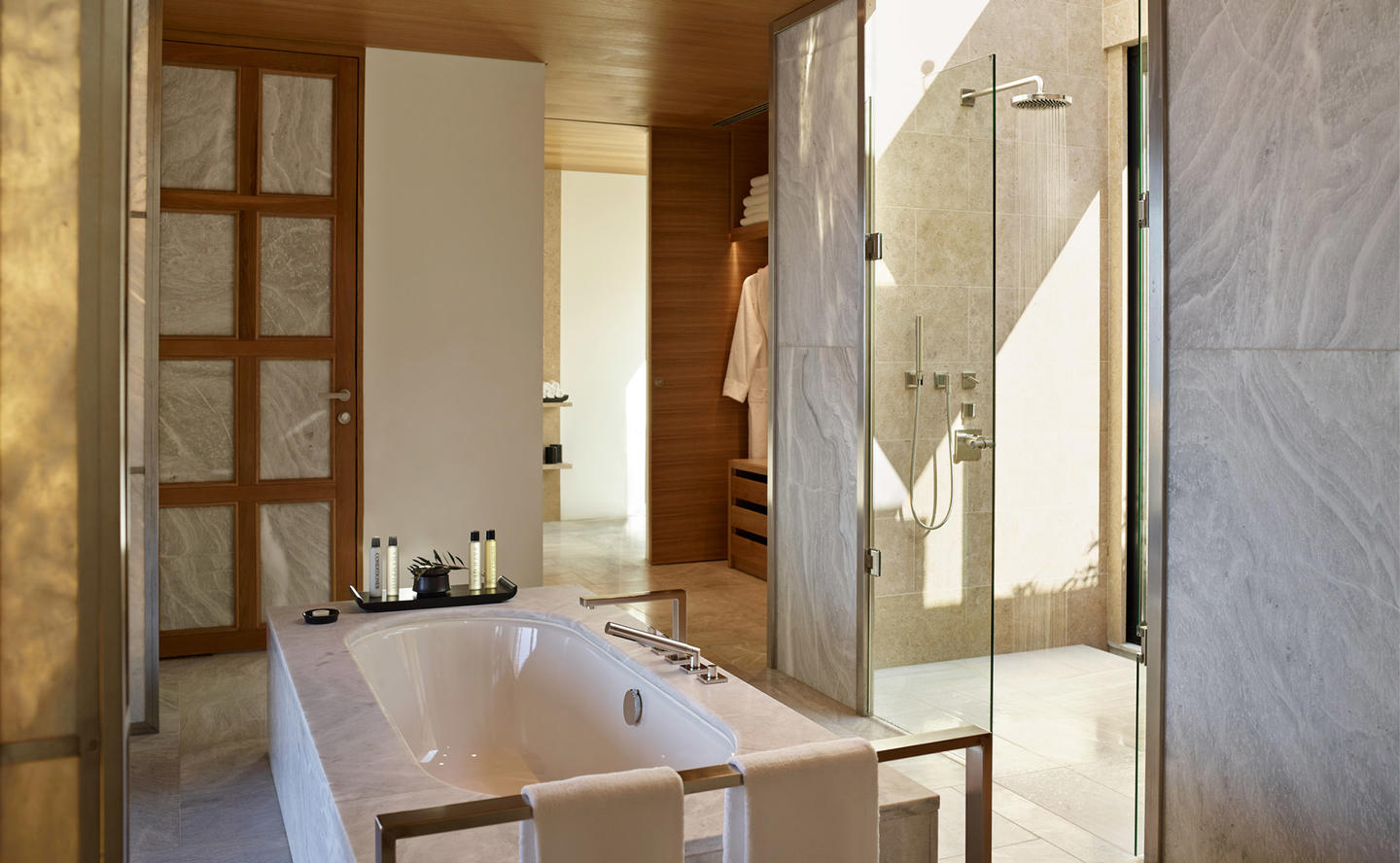 Bathroom, Villa 20 - Amanzoe, Greece