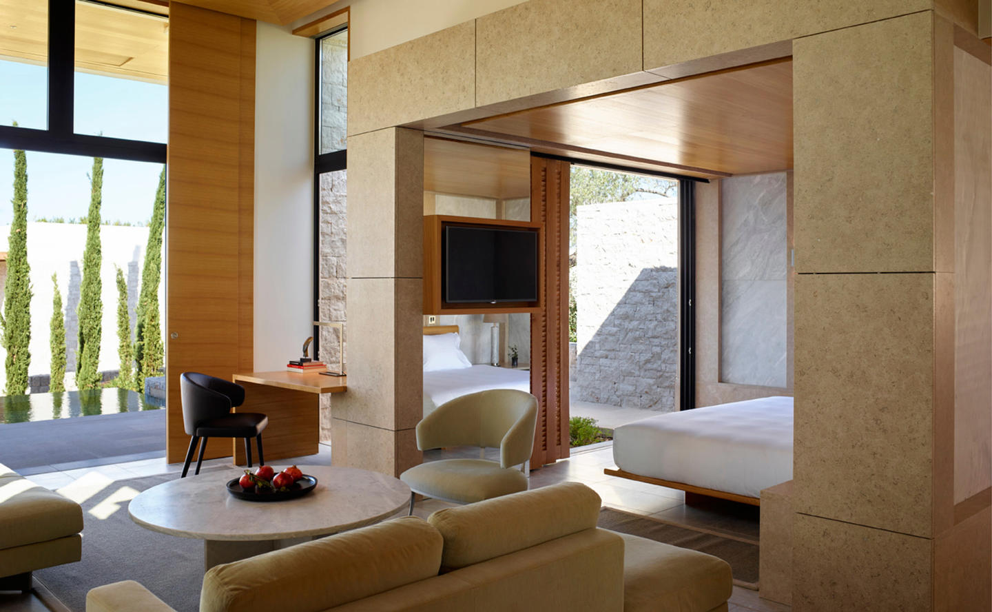 Suite Living Area, Villa 20 - Amanzoe, Greece