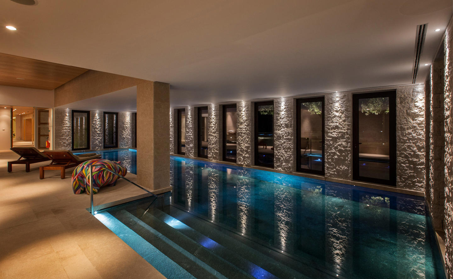 Indoor Swimming Pool, Villa 20 - Amanzoe, Greece
