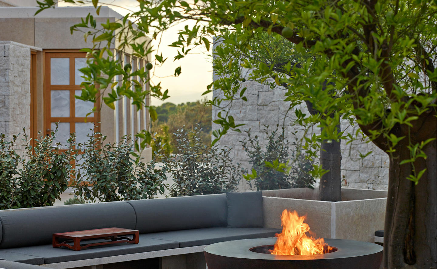 Barbecue and Relaxation Area, Villa 20 - Amanzoe, Greece