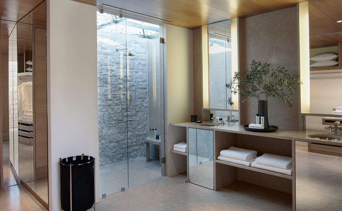 Beach Cabana Bathroom, Villa 20 - Amanzoe, Greece