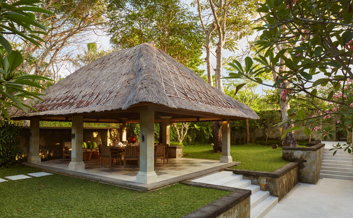 Aman Villas at Nusa Dua, Indonesia - Villa dining bale