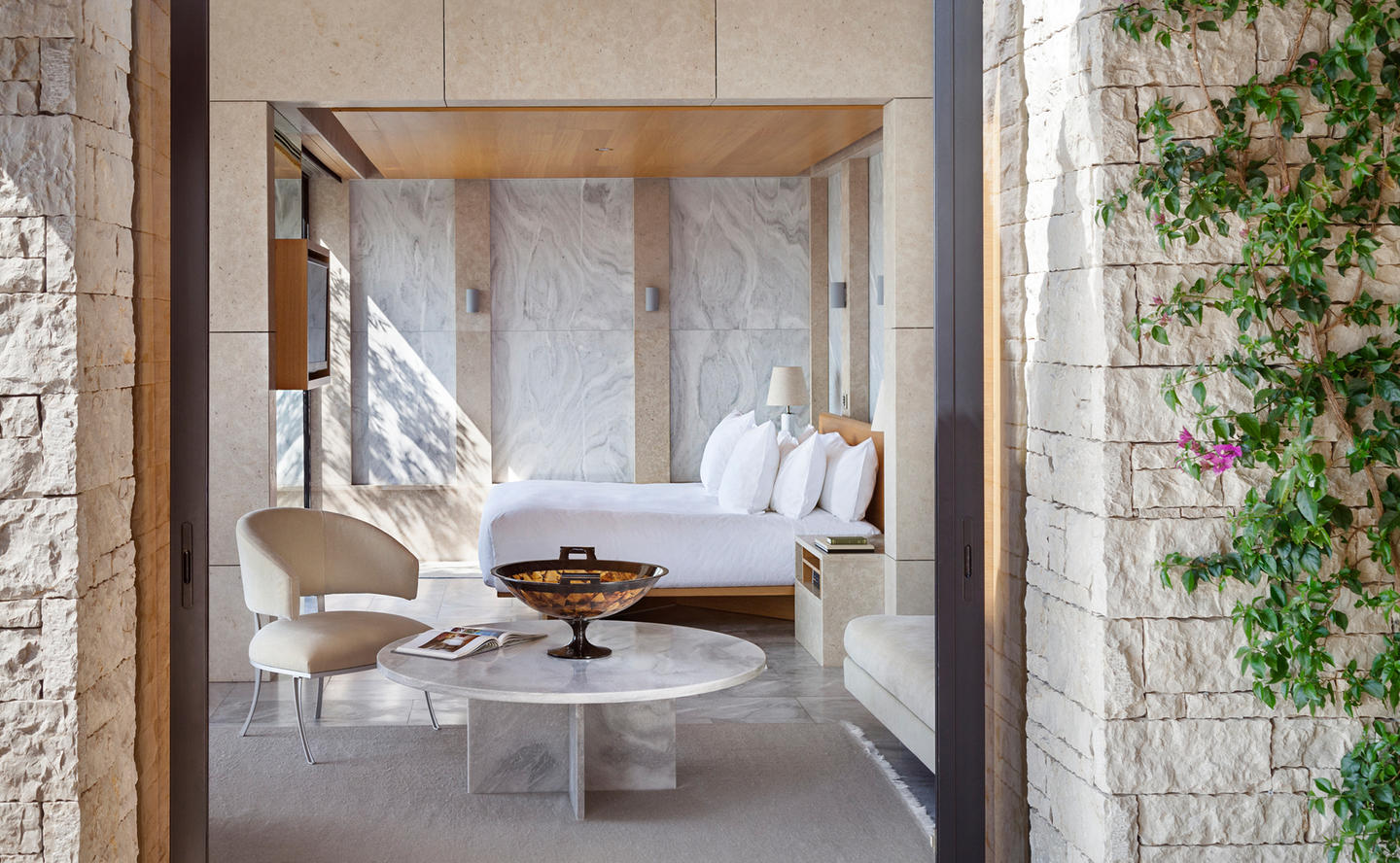 Bedroom, Amanzoe Villas, Greece
