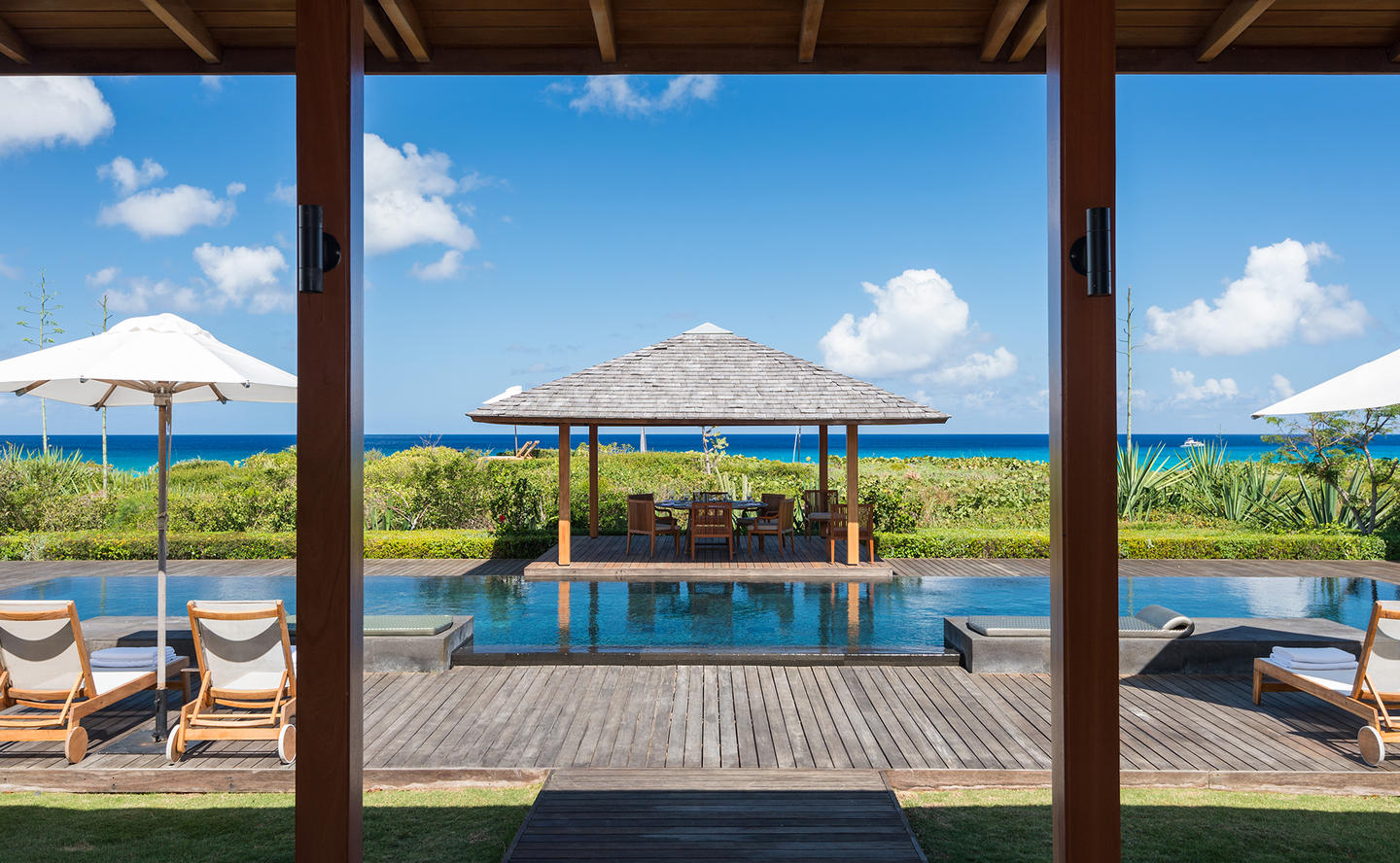 Swimming Pool & Dining Terrace, Four-Bedroom Beach Sala Villa - Amanyara, Turks & Caicos
