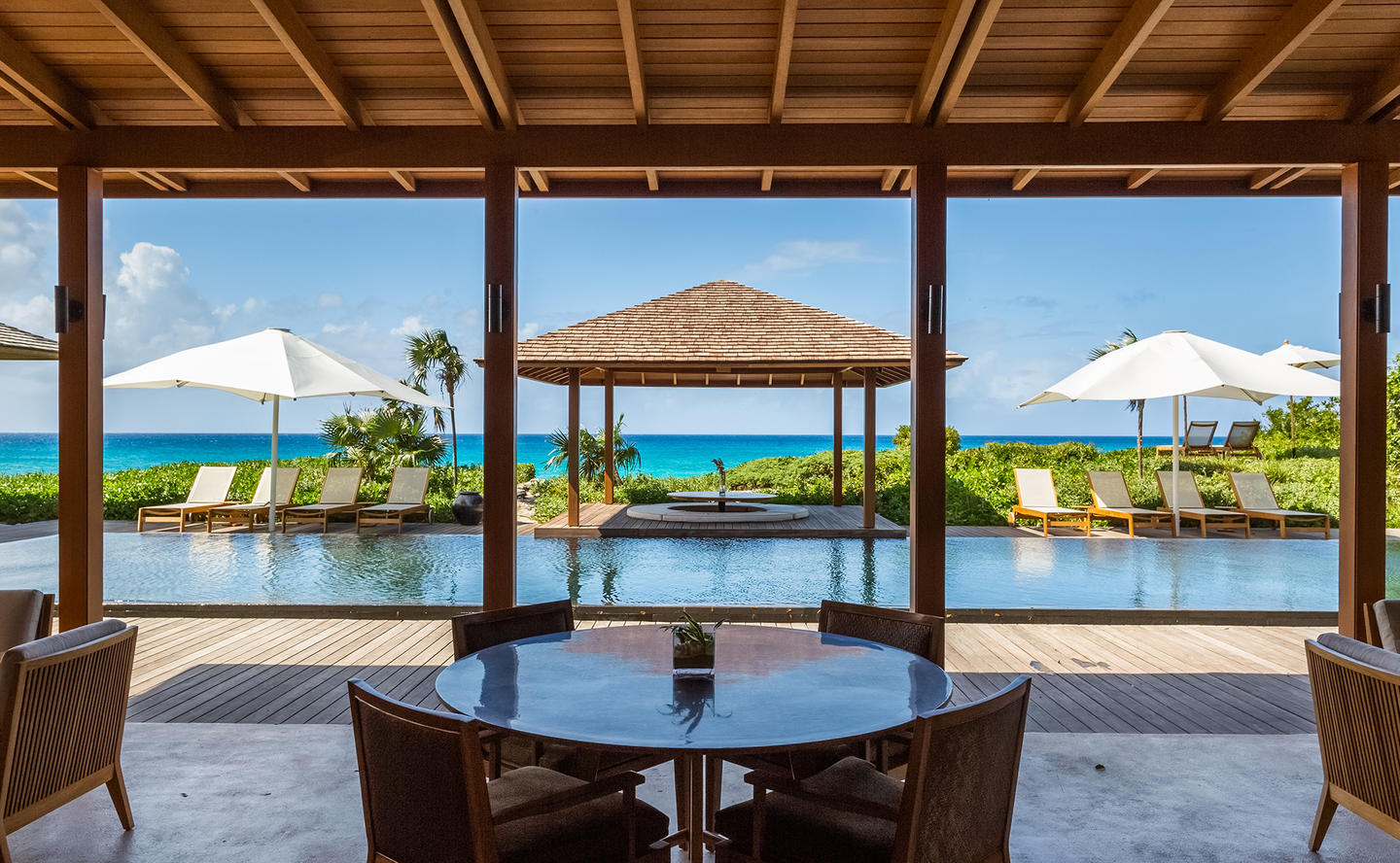 Swimming Pool & Terrace, Four-Bedroom Deluxe Beach Sala Villa - Amanyara, Turks & Caicos