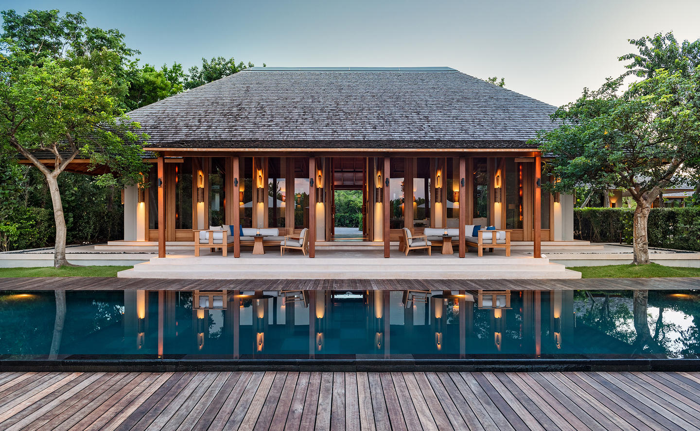 Main Pavilion & Swimming Pool, Four-Bedroom Tranquility Villa - Amanyara, Turks & Caicos