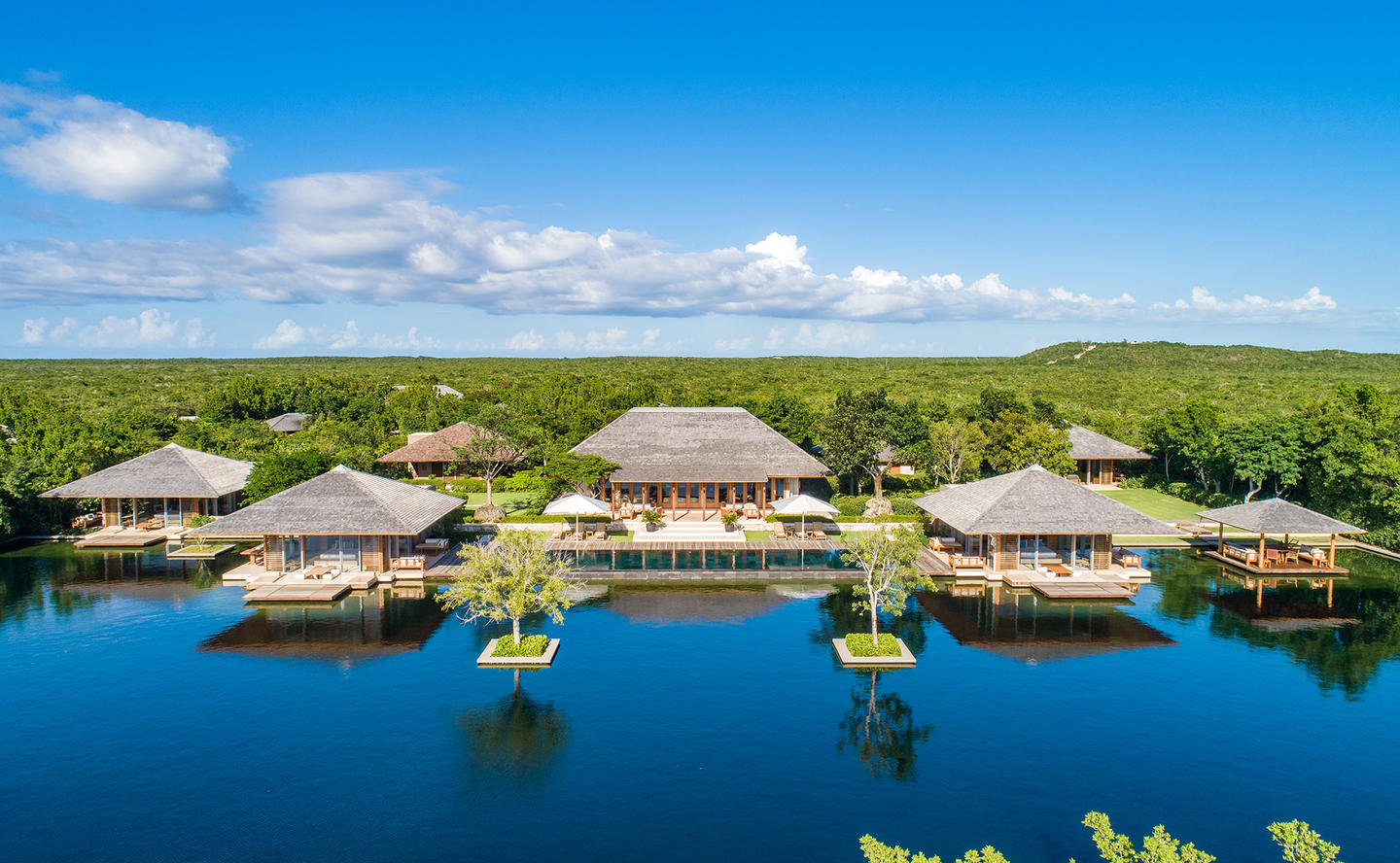 Aerial View, Four-Bedroom Tranquility Villa - Amanyara, Turks & Caicos