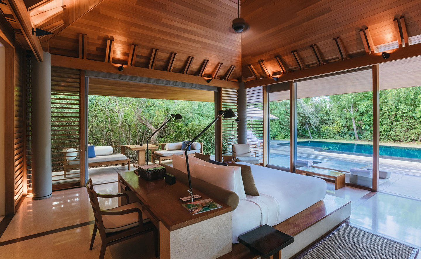 Bedroom, Pool Pavilion - Amanyara, Turks & Caicos