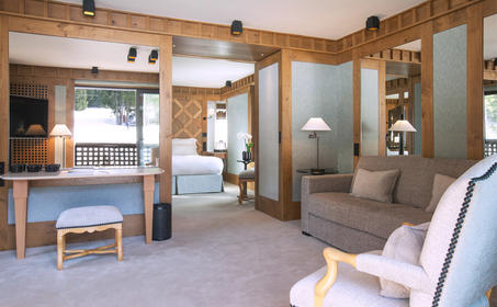 Living Area, Suite Ski Piste, Aman Le Melezin, France