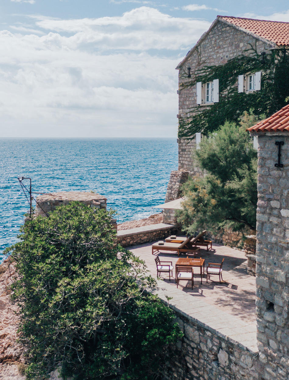 Private Terrace with Sea Views, Deluxe Cottage, Aman Sveti Stefan, Montenegro
