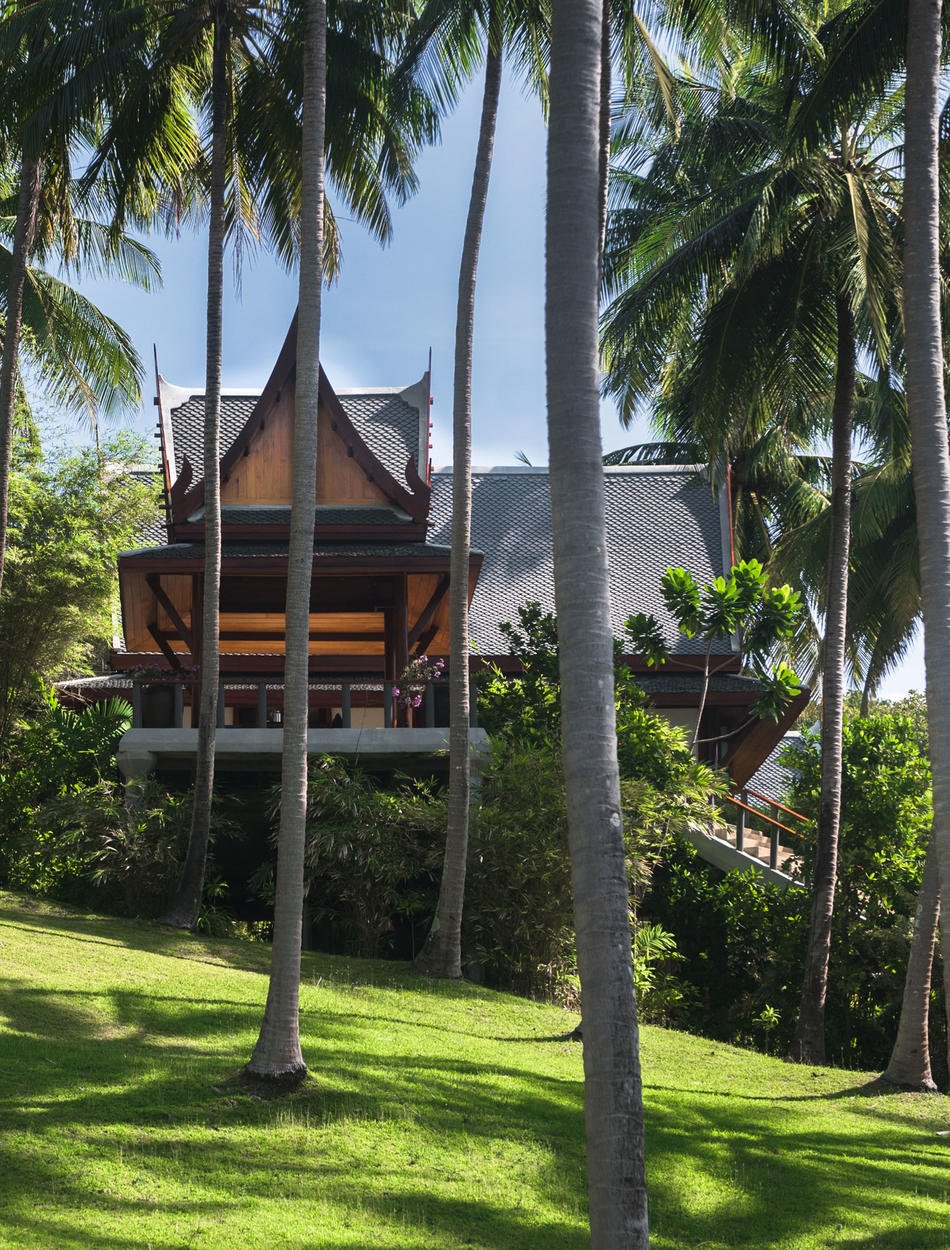 View from palm grove, Two-Bedroom Garden Villa, Amanpuri, Thailand
